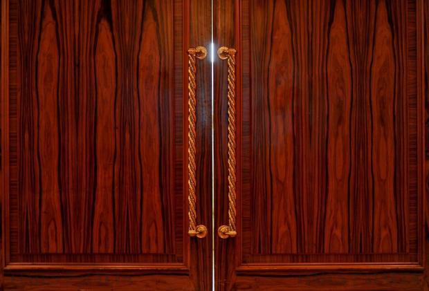 Light spills through a crack in a door on November 18. Photo: Chris Sant Fournier