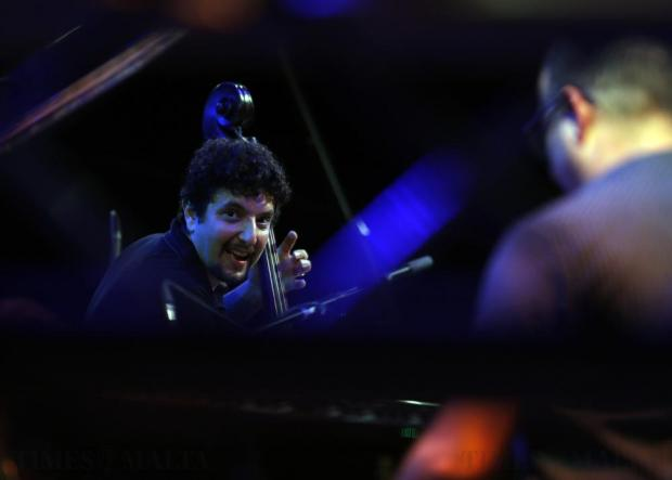 Israeli jazz bassist Omer Avital performs during the Malta Jazz Festival in Valletta on July 23. Photo: Darrin Zammit Lupi