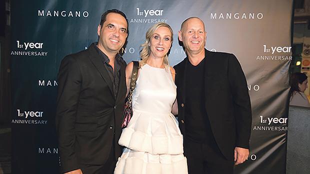 Directors Jason Paul Vella and Romualda Vella with Gruppo Mangano CEO Antonio Mangano.