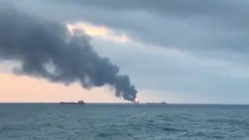 14 dead after fire on two vessels during gas transfer near Crimea