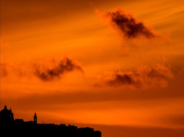 Mdina at dusk on March 14. Photo: Elisa Lemarchand