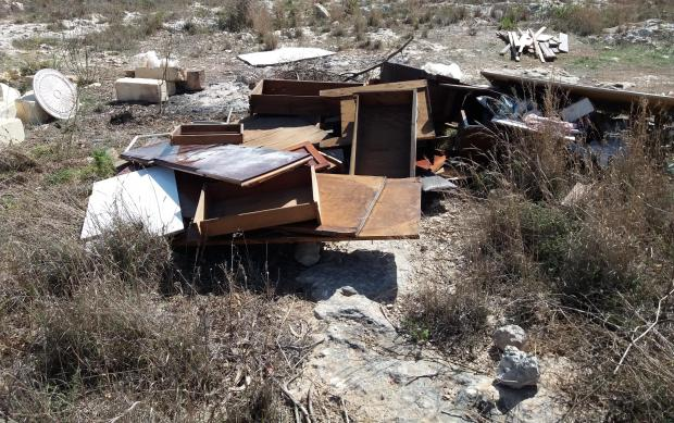 Some of the rubbish cleared from Mellieħa.