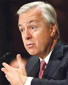 Wells Fargo CEO John Stumpf testifying before a Senate Banking Committee hearing on the firm's sales practices on Capitol Hill in Washington, US. Photo: Gary Cameron/Reuters