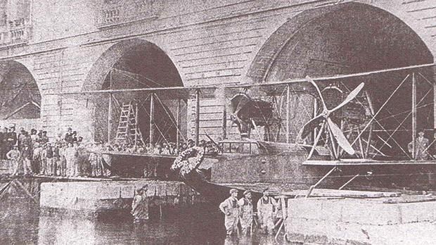 The first of a dozen Felixstowe F2A Seaplanes built at HM Dockyard at the Boathouse in November 1917.