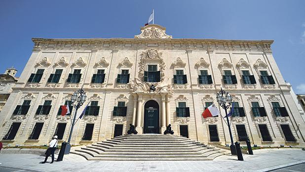 Auberge de Castille... Control of corruption ranked the lowest in Malta according to indicators issued by the World Bank. Photo: Jonathan Borg