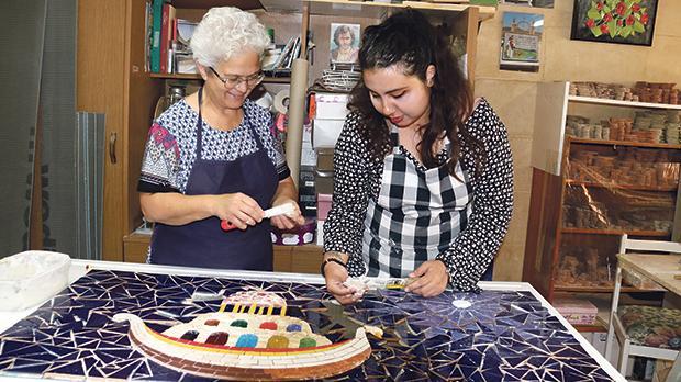 Rabia S. Akhtar (right) with Mary Portelli. Photos: Charles Spiteri