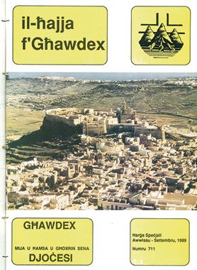 The special issue for August-September 1989 celebrated the 125th anniversary of the Gozo diocese.