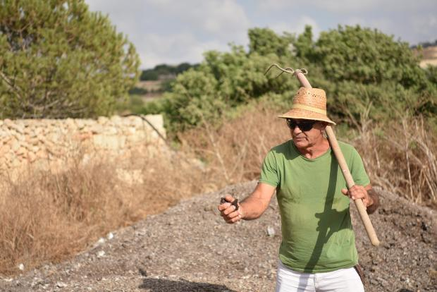 A farmer teaches visitors 'regenerative agriculture', at the compost festival in Mgarr on July 16. Photo: Mark Zammit Cordina