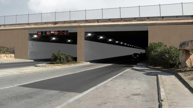 An impression of how the Kirkop tunnels will look.