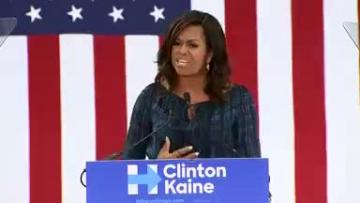 "Michelle Obama: ""We need an adult in the White House"""