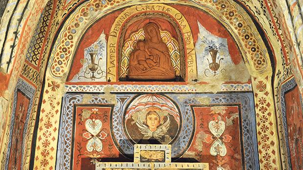 Many of the frescoes at St Agatha's crypt have been restored to their former glory. Photos: Chris Sant Fournier