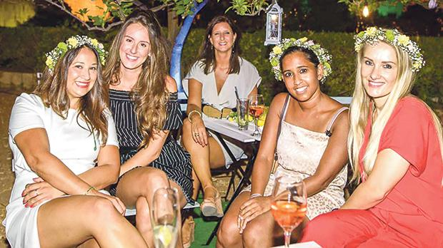 Chantelle Gales, Mary-Alice Petitch, Cristina Galea, Nimali Carluccio and Natalia Orlankiewics from Colours of Malta.
