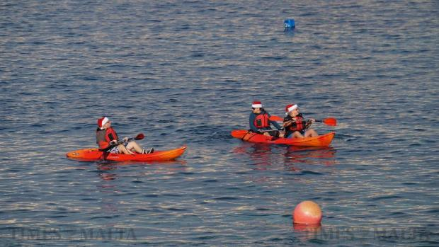 Participants in kayaks attend the Thomas Smith Charity Swim in Sliema on December 27. A total of 330 swimmers took the plunge in the 17th edition of the Thomas Smith charity swim, breaking all participation records for the annual event and raising €14,000 for the Malta Community Chest Fund. Photo: Steve Zammit Lupi