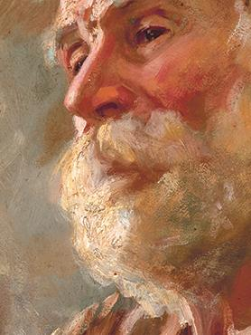 Edward Caruana Dingli: Portrait of an Old Man (L-Aћmar) (detail), 1910, Oil on board – private collection.