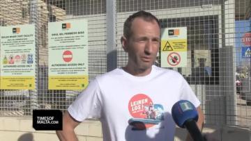 Lifeline's spokesmanAxelSteier. Video: MarkZammitCordina