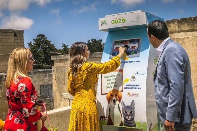 Eco-friendly feeding machines for strays launched in Gozo