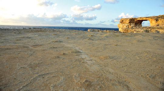 Three months after part of Dwejra in Gozo was covered in construction sand, this is what it looks like today after a clean-up. Photo: Max Xuereb