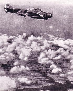 An Italian bomber flying over Malta.