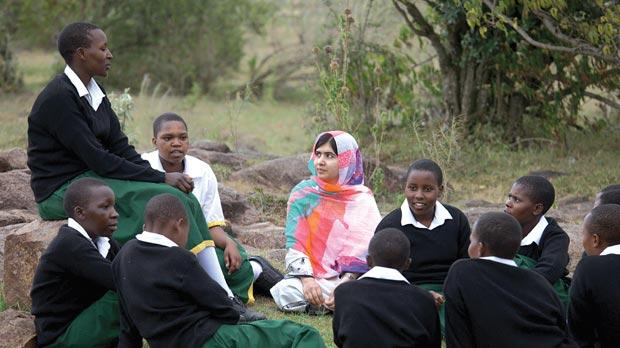 Malala with the co-founder of Free the Children, Craig Kielburger.