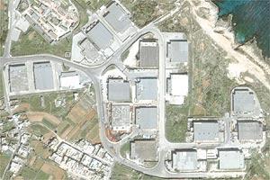 A satellite image of the Ricasoli Industrial Estate in Kalkara. Photo: Google Earth.