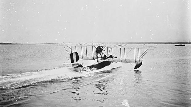 An FBA Type C two-seat flying boat. Photo: Imperial War Museum