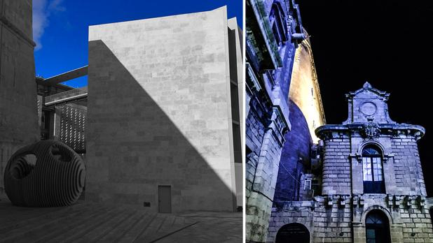 St James Cavalier building's shadow on Parliament house. Right: Customs House. Photos: Adrian Farrugia