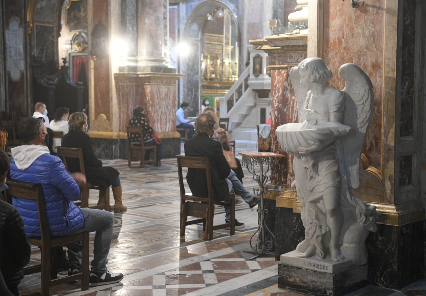 At St Paul's Church in Valletta. Photo: Matthew Mirabelli