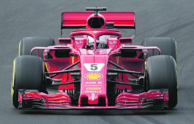 Sebastian Vettel clocked the fastest time on his Ferrari on Tuesday.