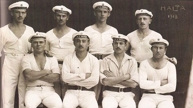 German seamen who survived Midilli's sinking (The Salter Album)