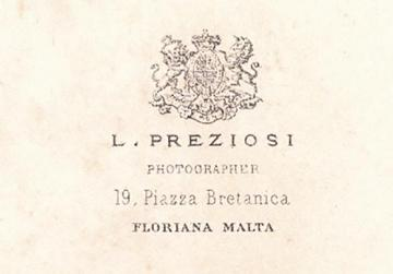The back of the photo of Dr Pisani taken by Preziosi upon his graduation.