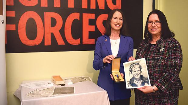 Lisa Stapp (left) and Carla Brewer donated artefacts connected to their late father's role in the war. Photo: Mark Zammit Cordina