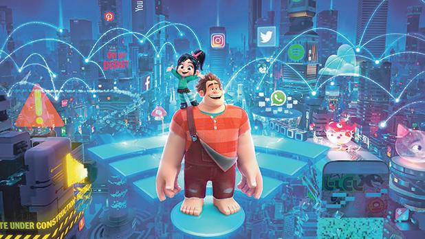 Ralph and fellow misfit Vanellope in Ralph Breaks The Internet: Wreck-It Ralph 2.