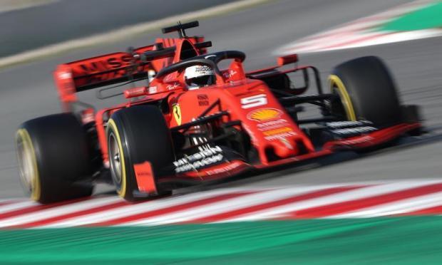 Ferrari's Sebastian Vettel in action during testing.