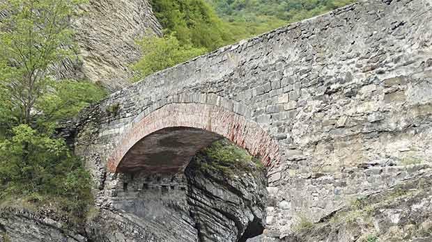 Ulu körpü' Bridge in Ilisu, Azerbaijan.