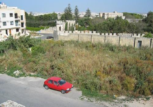 The area behind Villa Bologna in Attard, which might still be developed.