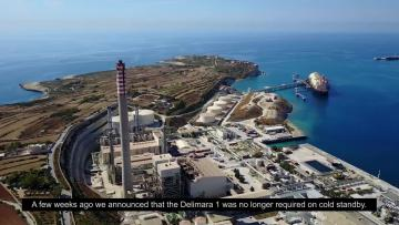 Watch: Delimara's 150-metre chimney is being dismantled