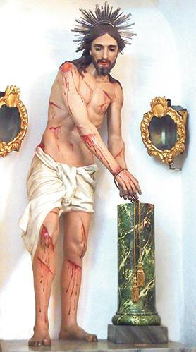 Darmanin's statue of the Scourging at the Pillar for Senglea parish.