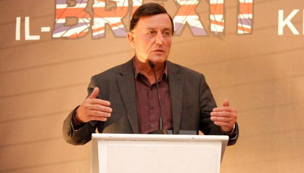 Alfred Sant addressing the conference.