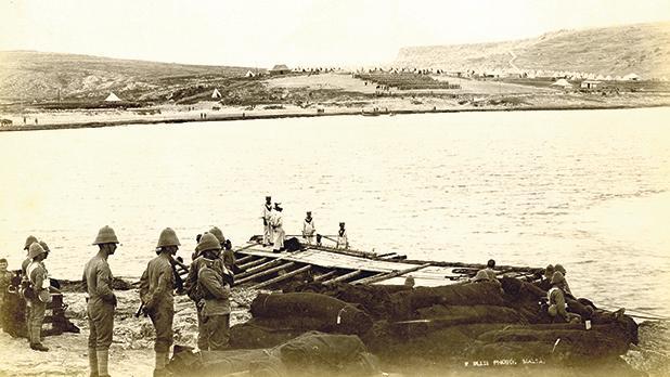 Military manoeuvres, Mellieħa Bay, April 1899. Photo: Richard Ellis