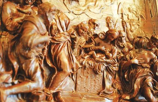 Detail from Adoration by the Shepherds. Photos: Chris Sant Fournier