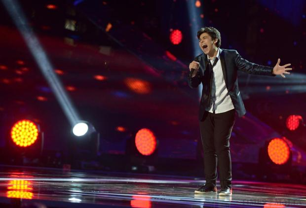 Italy's Vincenzo Cantiello performs his song during the Junior Eurovision Song contest at Marsa on November 15. Photo: Matthew Mirabelli