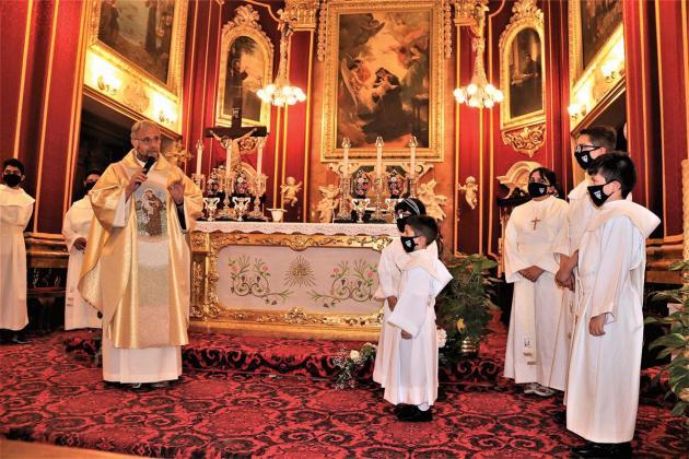 Children celebrate St Anthony feast