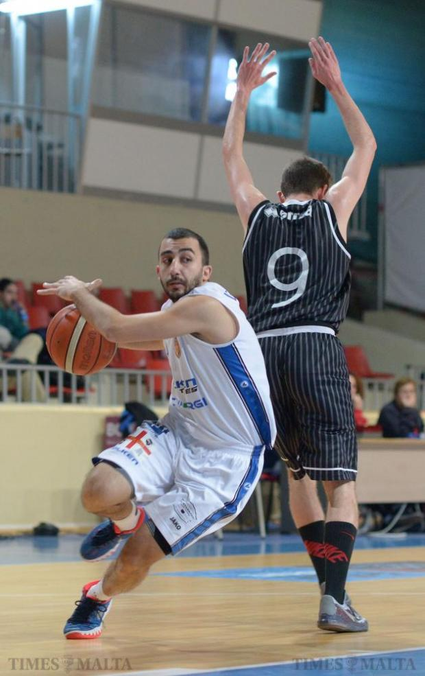 Virtus were in a class of their own as they eliminated Hibernians in a two-legged Louis Borg Cup semi-final at the Basketball Pavilion in Ta' Qali on January 31. Photo: Matthew Mirabelli