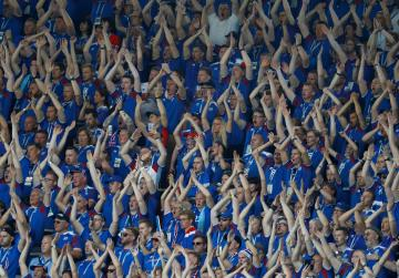 Just 0.4 per cent of Icelanders don't have World Cup fever