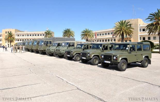 New vehicles for the Armed Forces of Malta are displayed at Luqa Barracks on October 19. Photo: Chris Sant Fournier