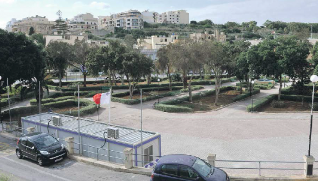 The Marsascala park that could be transformed by Sadeen Group into new local council premises. Photo: Chris Sant Fournier