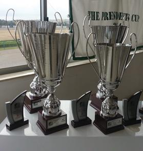 The trophies at stake for Sunday's big race at Marsa.
