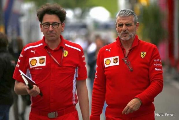 Mattia Binotto (left) and Maurizio Arrivabene.