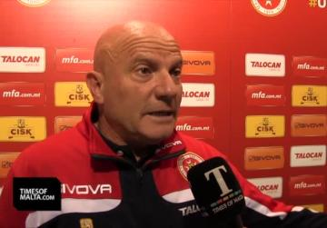 I will only be happy with  a win, says coach Farrugia