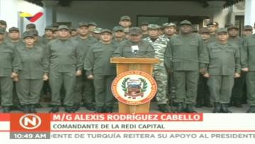 Venezuela's military backs Maduro, as standoff hardens with US